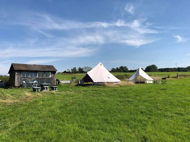 Private camping in 10 acres +wild swimming @Lacock
