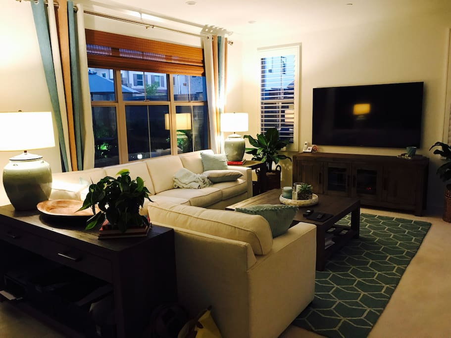 """Great Room with 70"""" TV"""