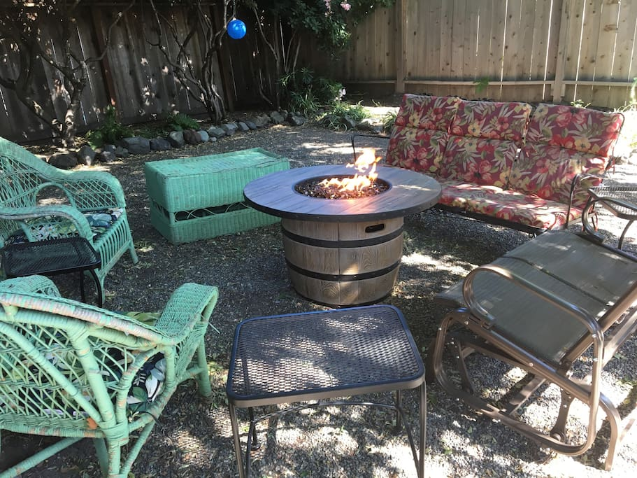 Have a glass of wine in the evening by the fire pit