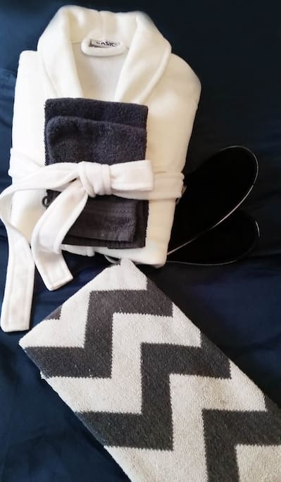 Fresh robes, towels and slippers always included!
