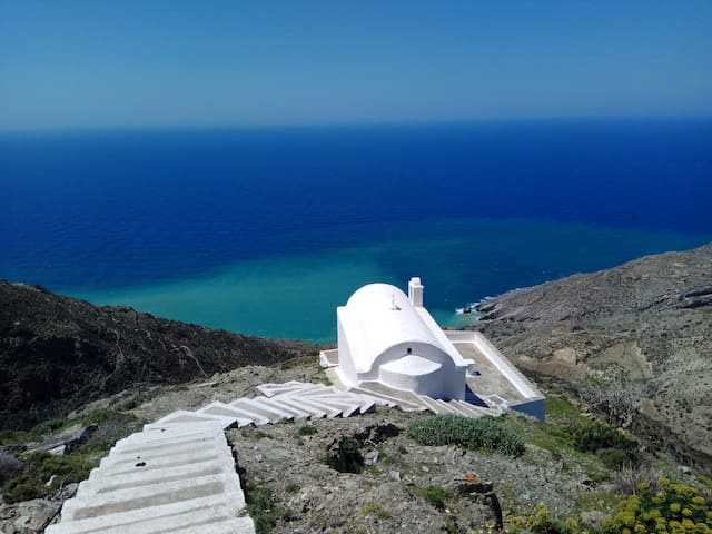 Olympos Traditional Spirit with idyllic view - Karpathos - Hus