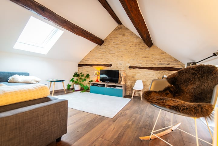 ** Chez Twiggy - Guesthouse vintage à Prenois **