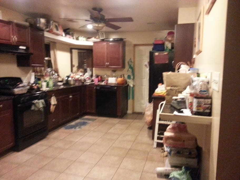 Where there always plenty to eat, the kitchen
