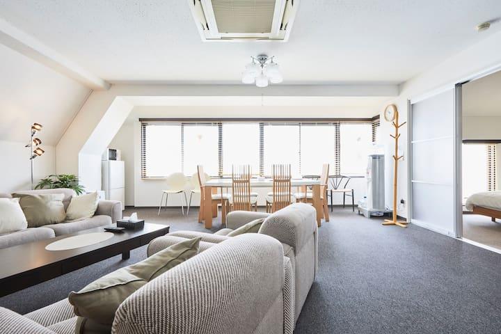 Near Roppongi/90㎡ / 2BR / 9 beds /Max 11 people - Minato-ku - Apartment