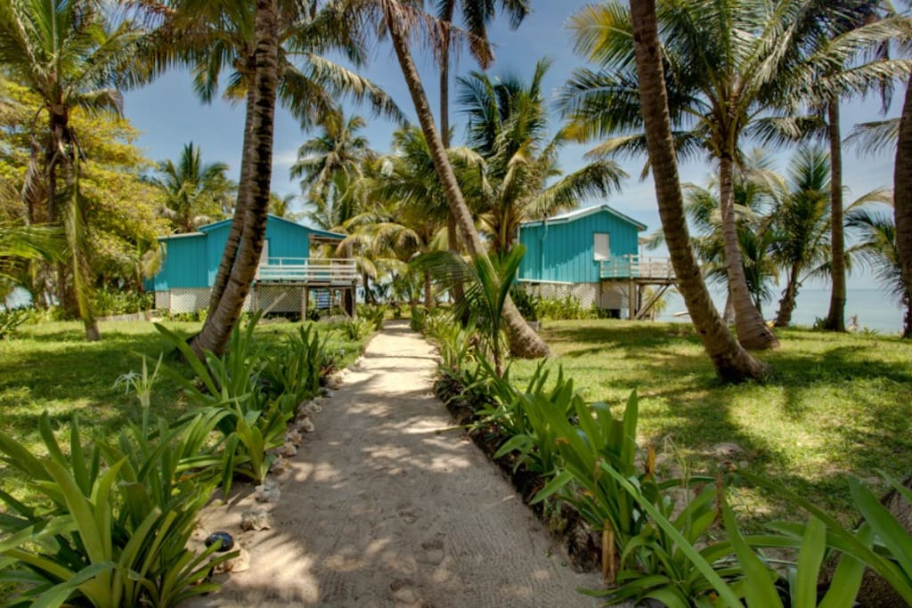 The path to the cabanas