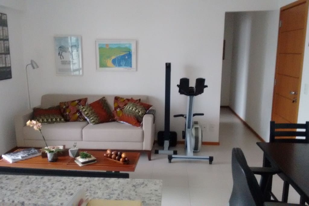Living room (that is a rowing machine and I can leave in my room while you are here)
