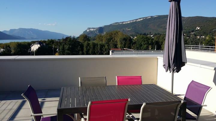Aix les Bains Grand Port T2 Meublé 3* vue lac