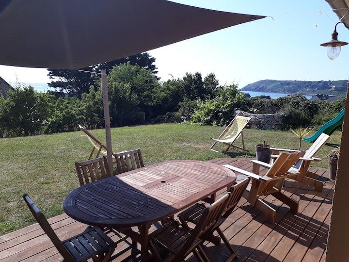 Grande maison, charme & confort, vue mer, Sciotot