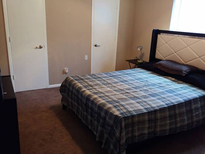 One nicely furnished room in a 3 bedroom home