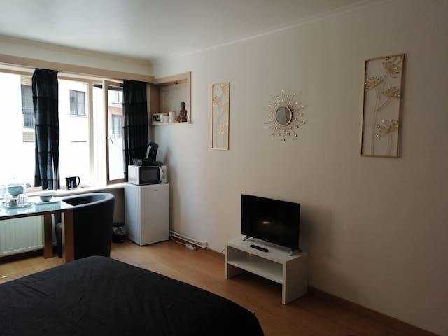 Chambre Cosy 2p plage/ville/gare/aeropoort/brugge