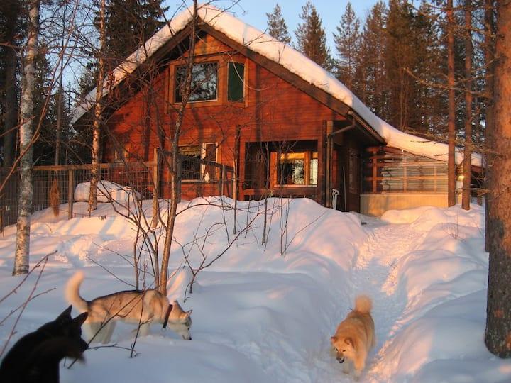 Aarnitupa, log house onshore Lake Kylmäluoma