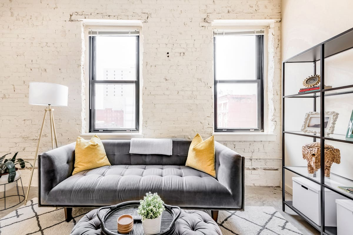 Kick Back at a Minimal Take on an Industrial-Inspired Loft