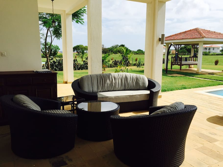 Fully furnished Patio lounge area