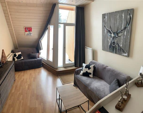 Immense studio / terrasse pour 6 au cœur d'Avoriaz