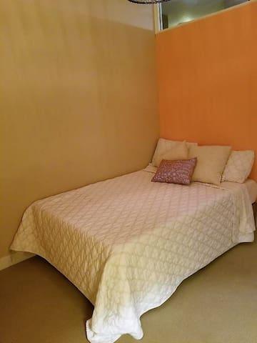 Full size memory foam bed.