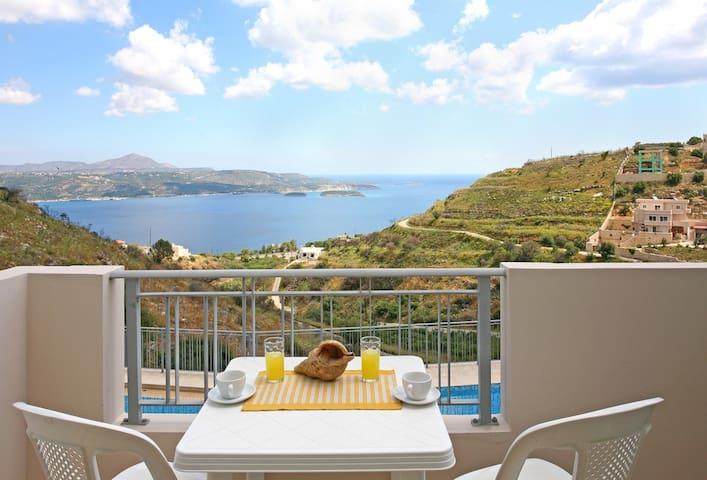 Aptera Paradise-Sea Panorama for 2 - Aptera - Apartamento