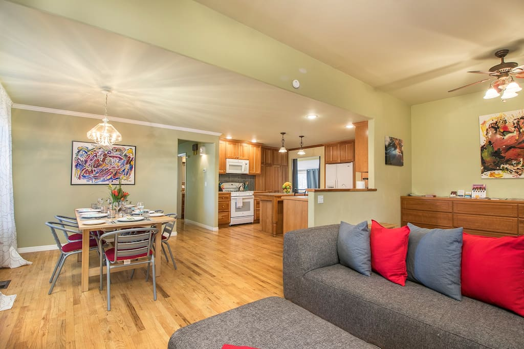Great room for family and friend gatherings