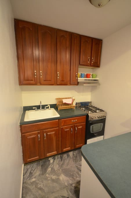 Kitchen with stove/oven