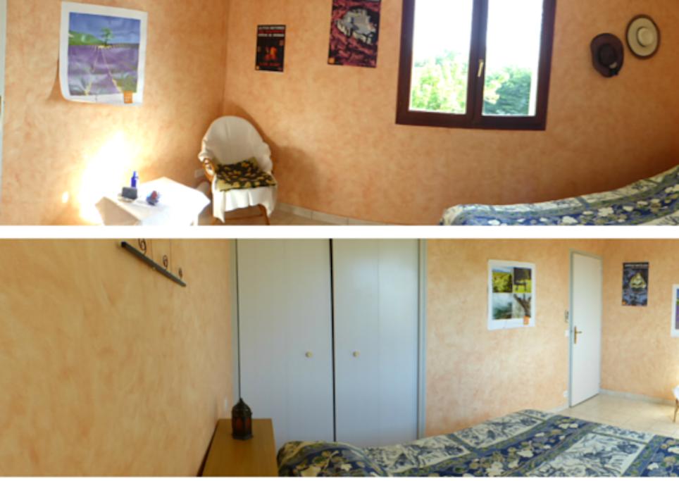chambre chez l habitant vue jardin chambres d 39 h tes louer clansayes auvergne rh ne alpes. Black Bedroom Furniture Sets. Home Design Ideas