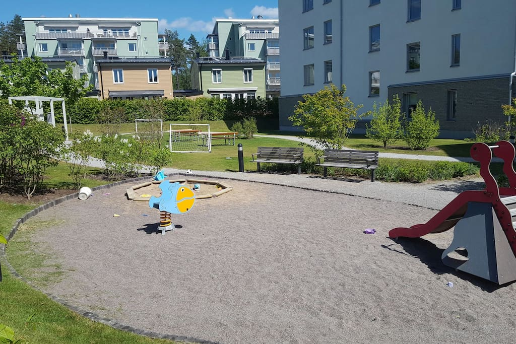Little playground just next to house