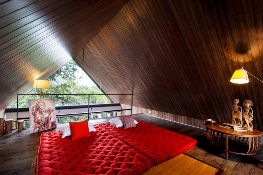 Attic of a Master Bedroom where you can quietly read your book