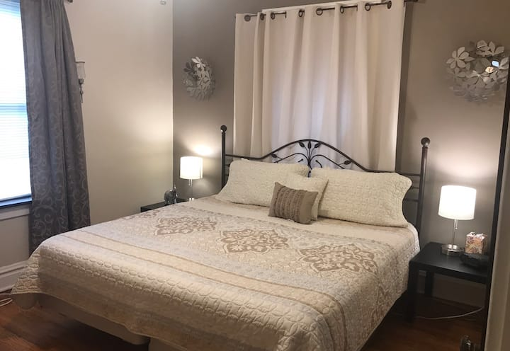 Private room with king size bed