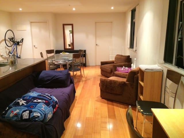 Comfy couch in living room. - Auckland - Appartement