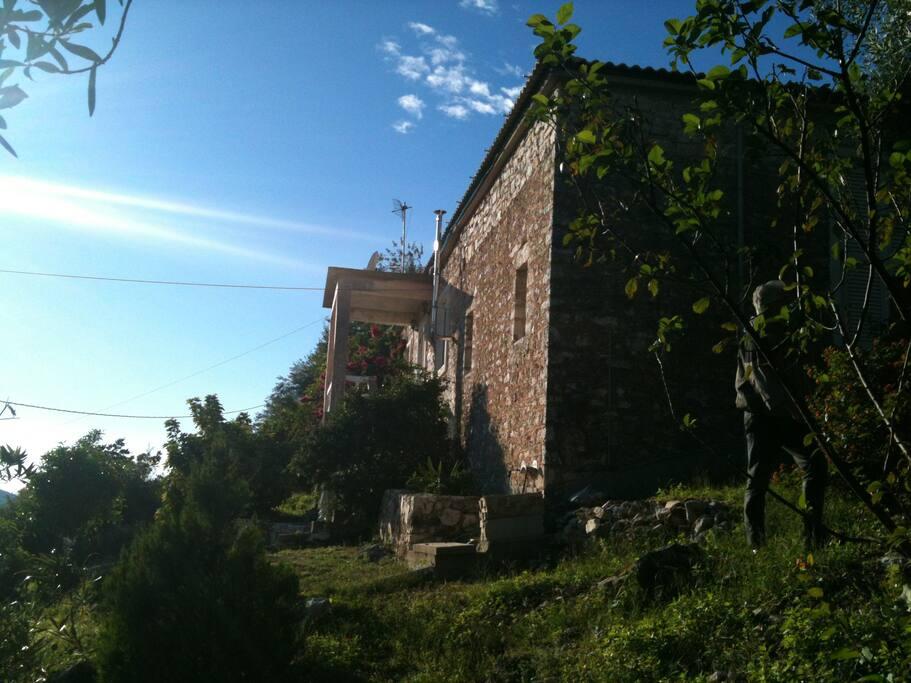 Side of the Stone Villa