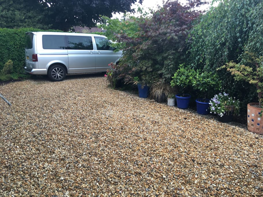 Area of driveway suitable for a self contained camper van