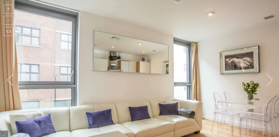 Central London apartment with gym & swimming pool