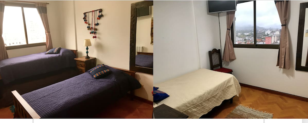 2 Double Bed Rooms+Private Bathroom Plaza Belgrano