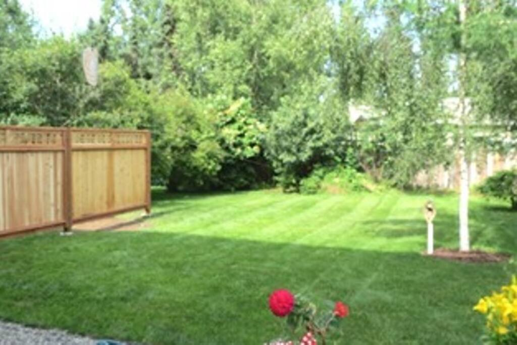 Yard is now fully fenced across for privacy