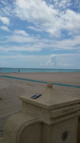 Just steps away from the largest section of Hollywood beach & Broadwalk