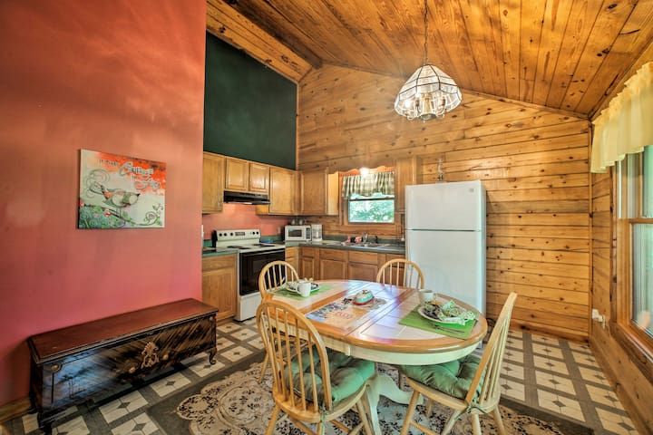 Step inside to explore the well-appointed cabin.