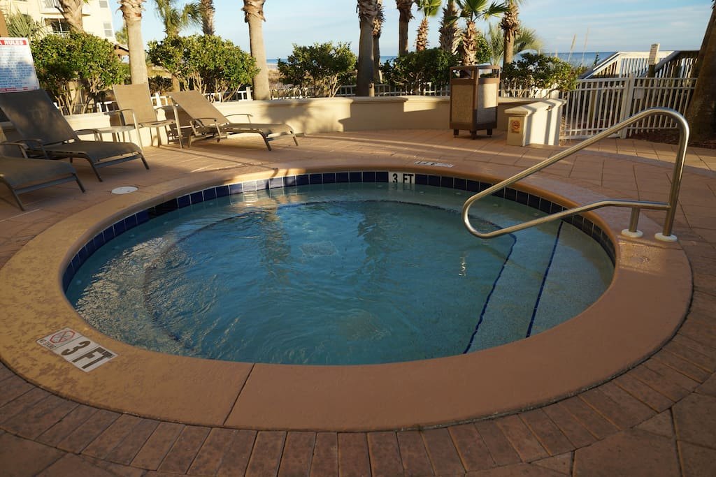 Enjoy A Hot Tub Experience, Complete With Pleasant Gulf Breezes