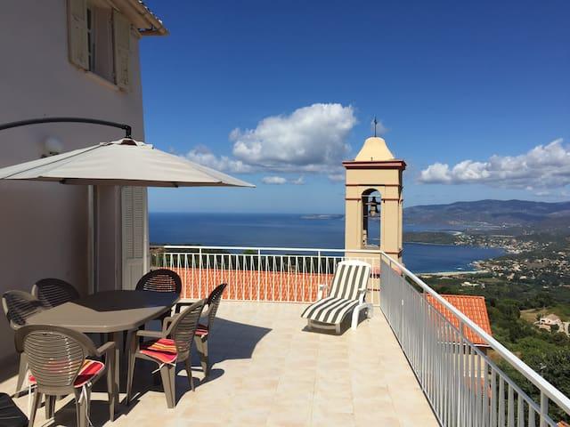 Maison vue panoramique mer et golfe - Calcatoggio - Casa