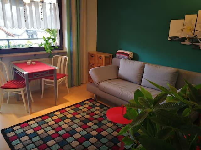 Schönes, helles Apartemet mit  Bad und Balkon