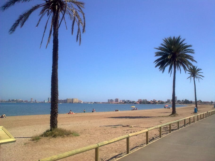 A small part of the wonderful beaches surrounding the Mar Menor