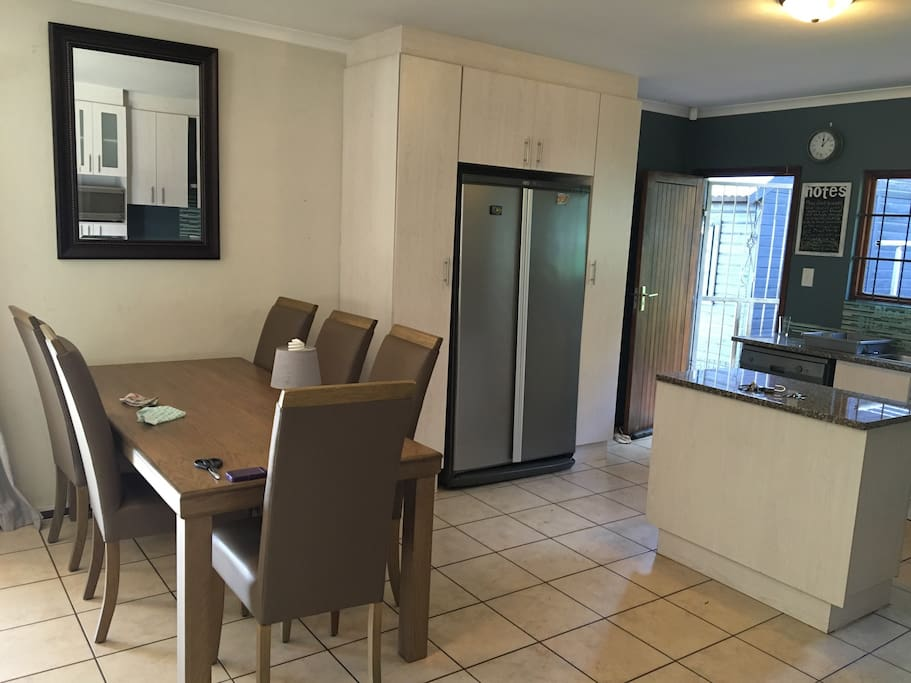 Fully equipped kitchen with state of the art gas stove, dishwasher and double door fridge