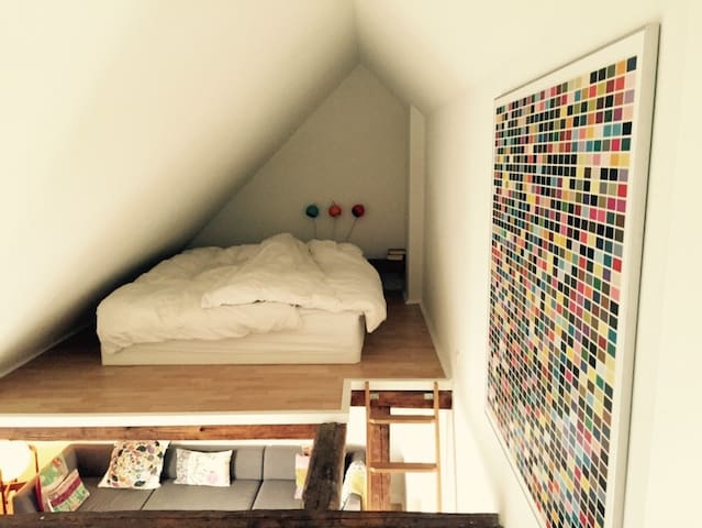 Bedroom above the livingroom