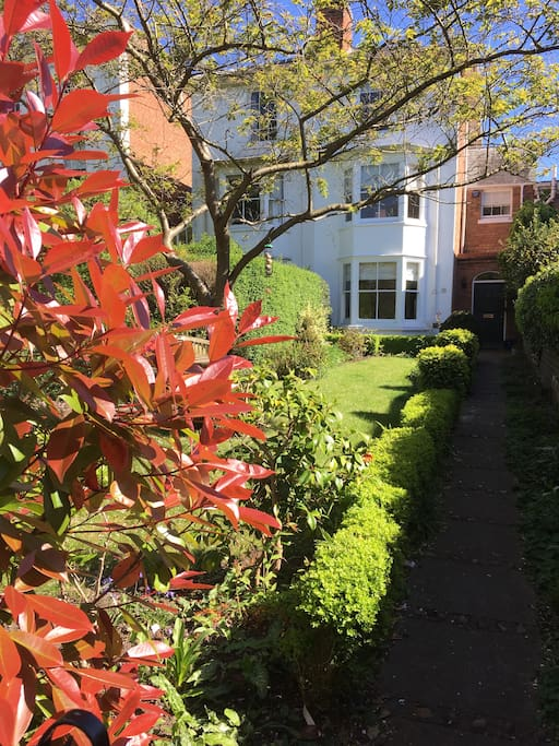 The front garden in the autumn