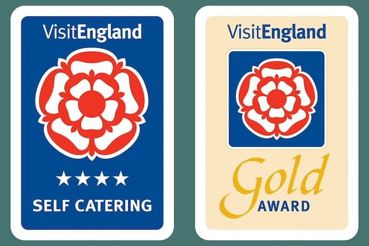 4* Gold Award winning by Visit England