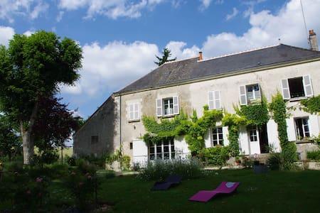Chambre familiale aux Ânes de Balaam - Chambourg-sur-Indre - Huis