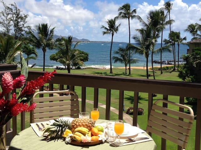 BEACHFRONT Condo, Wailua, Kauai, HI