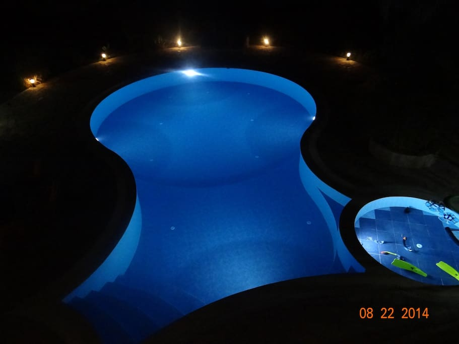 our perfectly lookedaftered privite swimin pool.
