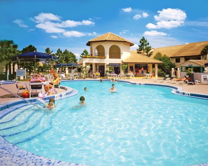 14 heated outdoor pools and 14 hot tubs, as well as children's wading pools. Several of the pools features poolside bars