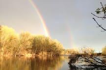Rainbow over Otter Creek