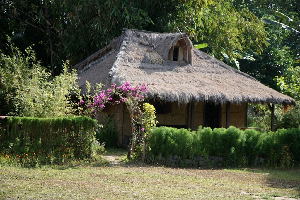 Traditional Sasak familie house