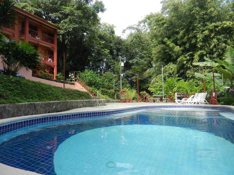 Shared pool w/ BBQ area