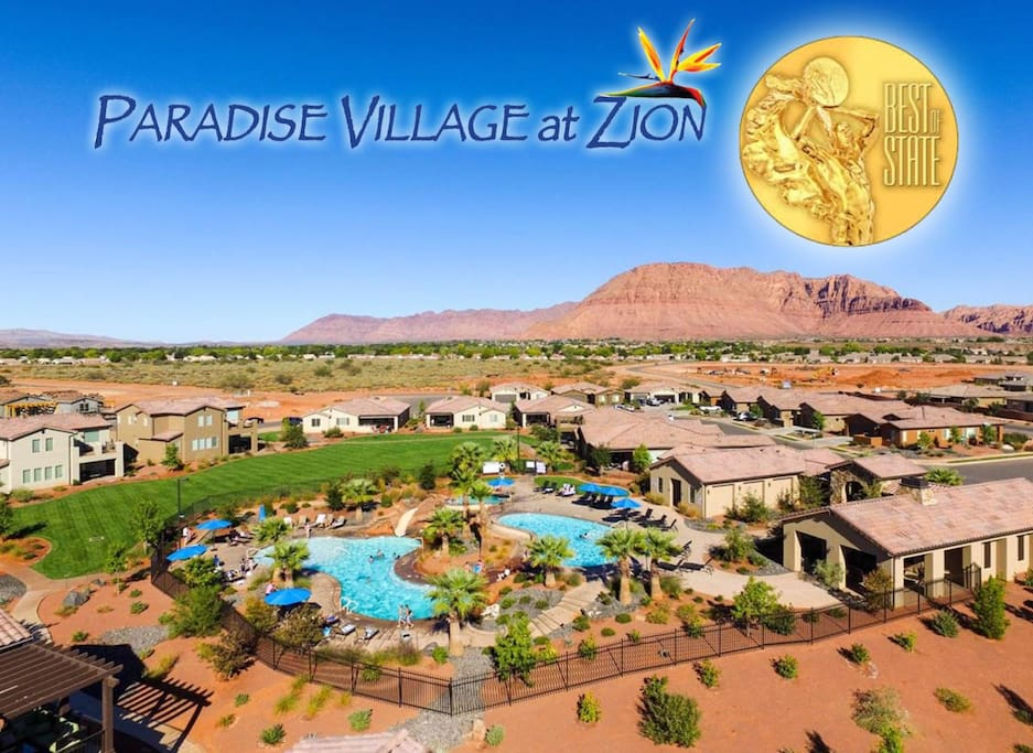 Paradise Village was awarded the BEST OF STATE award in 2016 for the best resort in southern Utah for vacation rentals